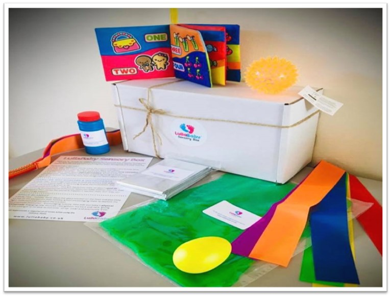 Sensory gift box baby development